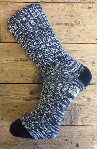 Men's Wool Socks - Black White Brown - Machine Washable.